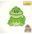 Cartoon Croc Character vector image vector image