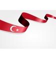 Turkish flag background vector image vector image