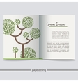 Booklet with a picture of a green tree vector image