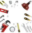 construction repair tools icon set vector image