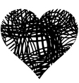 doodle heart shaped 4 vector image