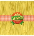 Drawn spaghetti and labels for them vector image