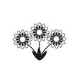 flowers black icons vector image