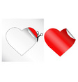 hearts in form of sticker vector image