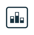 levels icon Rounded squares button vector image