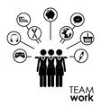Team work different design vector image