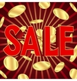Sale poster with gold coins vector image