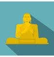 Golden Buddha icon flat style vector image