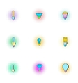 Lamp for home icons set pop-art style vector image