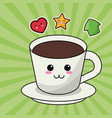kawaii coffee cup image vector image