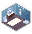 hotel bathroom interior composition vector image