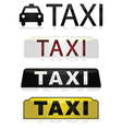 Taxi signs vector image