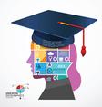 infographic Template Graduation cap vector image vector image
