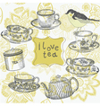 love tea time vector image