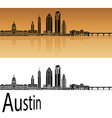 Austin skyline in orange vector image