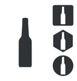Alcohol icon set monochrome vector image