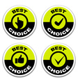 best choice stickers vector image