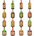 bottles pirate rum vector image