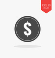 Coin icon Flat design gray color symbol Modern UI vector image
