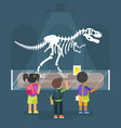 dinosaur skeleton in museum vector image