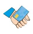 drawing holding credit card bank vector image