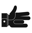 hand abstract icon simple black style vector image