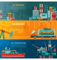 Oil Industry Horizontal Banners Set vector image