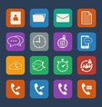 phone and telecommunication icons set flat design vector image