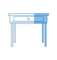 school desk wooden table office furniture vector image