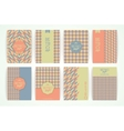 Set of Vintage Retro Backgrounds vector image