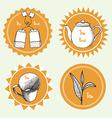 Sketch tea labels vector image