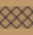 tartan brown beige seamless fabric texture vector image