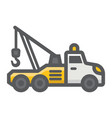 tow truck filled outline icon transport vehicle vector image