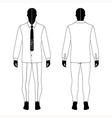 man black silhouette figure vector image vector image