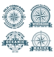 Vintage nautical labels emblems logo badges vector image