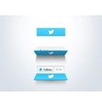 social media follow button and counter vector image vector image