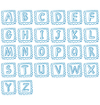 Doodle design of the alphabet vector image