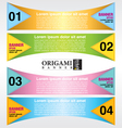 Origami colorful banner EPS10 vector image