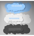 banners and cloud Color vector image