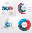 3 steps infographic templates Business concept vector image