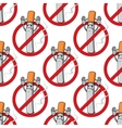 No smoking sign seamless pattern vector image