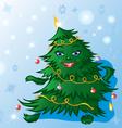 christmas tree dance vector image