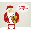 Father Christmas Background vector image