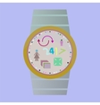 Smart watch with flat icons vector image vector image