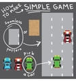 Pixel art style simple game objects set vector image