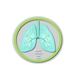 World Asthma Day - May 3 Lungs Baner vector image