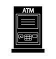 atm machine - payment icon vector image