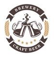beer cups emblem vector image