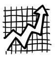cartoon image of graph icon vector image