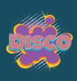 Disco pop art lettering vector image